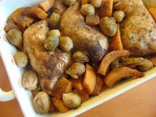 Udka Kurczaka Pieczone Z Warzywami A Dupa Rosnie