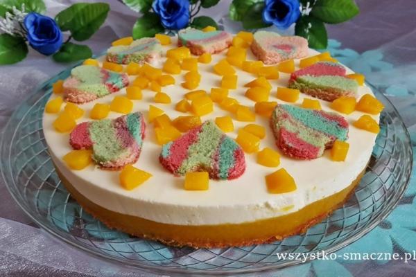 Kolorowe Ciasto Z Brzoskwiniowa Masa Aduparosnie Pl Przepisy