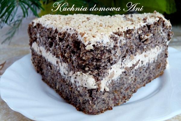 Tort Makowy Z Kremem Kawowym Aduparosnie Pl Przepisy Kulinarne