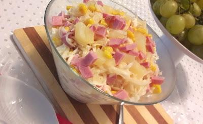 Salatka Z Ananasem I Selerem Konserwowym A Dupa Rosnie