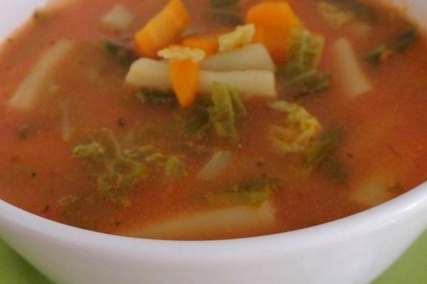 Zupa Z Kapusty Wloskiej I Zoltej Fasolki Szparagowej A Dupa
