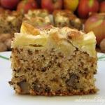 Ciasto orzechowe z jablka...