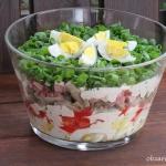 Salatka z jajkami i sosem...