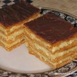 Tort serowo - miodowy