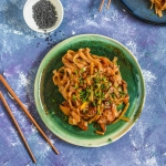 Makaron z kimchi i tofu