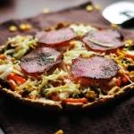 Tarta LCHF ala pizza z sa...