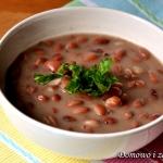 Zupa z czerwonej fasoli