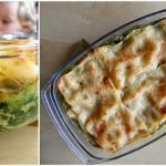 Lasagne z pokrzywa i faso...