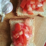 Mini kanapki z czosnkiem...