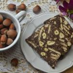 Miodowy blok czekoladowy