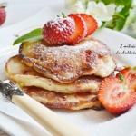 Pancakes rabarbarowo -...