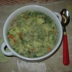 Zupa koperkowa z platkami...