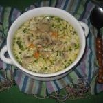 Zupa pieczarkowa z makaro...