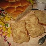 Zakrecony chlebek czekola...