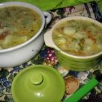 Zupa porowo-koperkowa