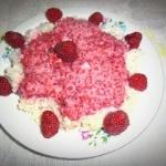 Deser ryżowo -malinowy