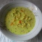 Zupa koperkowa z kluskami...