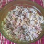 Salatka z boczniaka