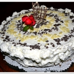 Tort czarno-biały z...