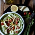 Salatka z serem typu lava...
