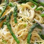 Spaghetti ze szparagami...