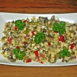 Salatka z ryzem i pieczar...