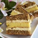 Ciasto serowo- orzechowe