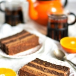 Tort pomarańczowo-...