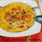 Zupa serowa z miesem miel...
