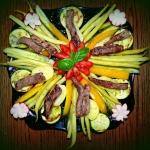 warzywny talerz z...