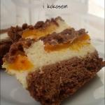 Kakaowe ciasto z brzoskwi...