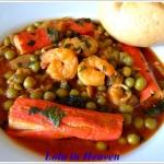 Tunezyski sos, krewetki...