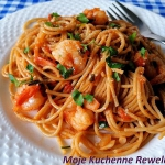 Spaghetti z krewetkami...
