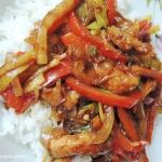 Schab z warzywami stir...