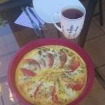 Zapiekany omlet caprese