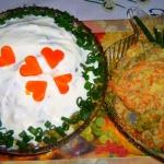 """Salatka sledziowa """"pod ..."""