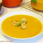 Zupa dyniowo serowa