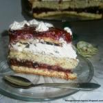 Tort wiśniowy z masą...