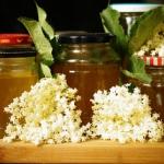 Elderflower syrup /...