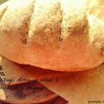 Domowy chleb z czosnkiem...