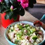 Salatka ryzowa z szynka i...