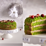 Zielony tort z piernikowy...