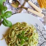 Spaghetti z lososiem w so...