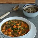 Zupa z zielona soczewica