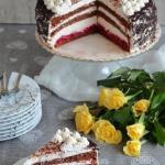 Tort wisniowy z kremem sm...