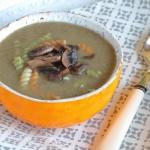Zupa pieczarkowo-porowa