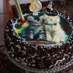 Urodzinowy tort brzoskwin...