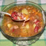 zupa z czerwonej fasoli...