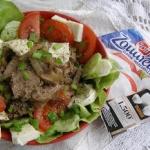 pyszna salatka z watrobki...