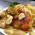 udka kurczaka z cebulą,...